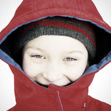 Happy Kid in Winter Royalty Free Stock Images