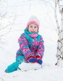 Happy kid winter day. Stock Photography