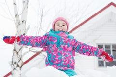 Happy kid winter day. Royalty Free Stock Photo