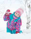 Happy kid winter day. Royalty Free Stock Photography