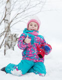 Happy kid winter day. Royalty Free Stock Images