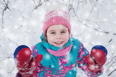 Happy kid winter day. Royalty Free Stock Image