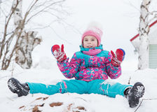 Happy kid winter day. Stock Images