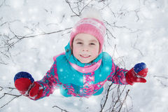 Happy kid winter day. Stock Photography