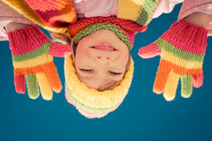 Happy kid in winter Royalty Free Stock Photo