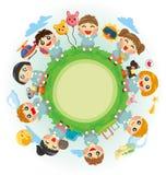 Happy kid world. Vector,illustration Stock Photo