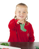 Happy with Kiddie Dough Stocking Royalty Free Stock Images