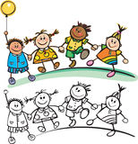 Happy kids. Royalty Free Stock Photos