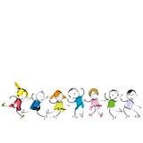 Happy kids. Little boys and girls, group of happy kids Royalty Free Stock Photo
