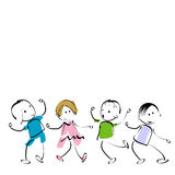 Happy kids. Group of four happy kids Stock Image