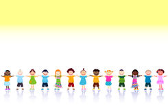 Happy kids. Large group of happy kids Stock Photos