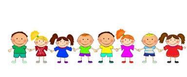 Happy kids stock illustration