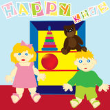 Happy kids Royalty Free Stock Photos