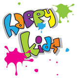 Happy Kids. Color Happy Kids text on white background Stock Image