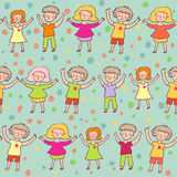 Happy kids. Colorful seamless pattern Stock Photography