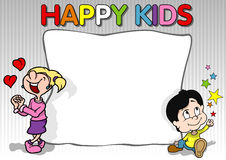 Happy Kids Background vector illustration