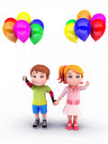 Happy kids with balloons Royalty Free Stock Photo
