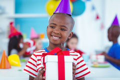 Happy kids at a birthday party Royalty Free Stock Photo