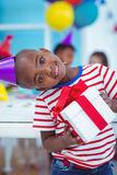 Happy kids at a birthday party Royalty Free Stock Photos