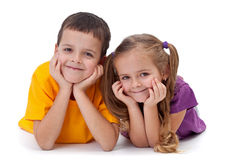 Happy Kids - Boy And Girl Royalty Free Stock Image