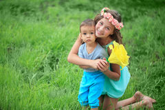 Free Happy Kids, Brothers And Sister, Laughing Teenager Boy Stock Photo - 68741070