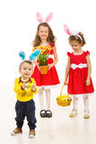 Happy kids with bunny ears Royalty Free Stock Photos
