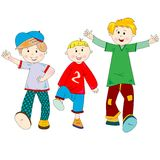 Happy kids cartoon Royalty Free Stock Image