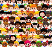 Happy kids cartoon collection Stock Images