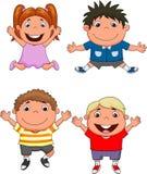 Happy kids cartoon Stock Photography