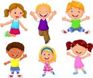 Happy kids cartoon Royalty Free Stock Photo