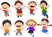 Happy kids cartoon Stock Images