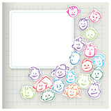 Happy kids - cartoony heads icons Stock Images