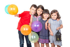 Happy kids celebrating Eid El Fitr Stock Photos