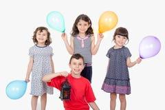 Happy kids celebrating Eid El Fitr Royalty Free Stock Photos