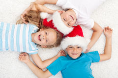 Happy kids at christmas time Stock Photography