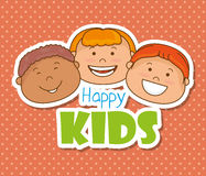 Happy kids design. Stock Photography
