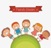 Happy kids design. Royalty Free Stock Photo