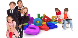Happy kids and education Stock Images