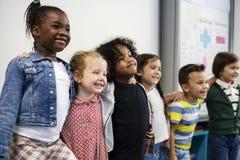 Happy kids at elementary school stock photo