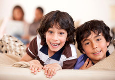 Happy kids at home Stock Photography
