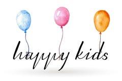 Happy Kids Logo Royalty Free Stock Photos