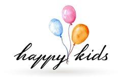 Happy Kids Logo Stock Image