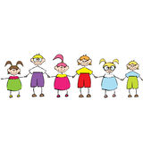 Happy kids in love Royalty Free Stock Image