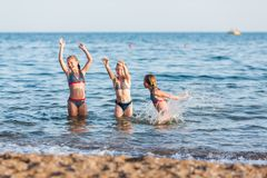 Free Happy Kids On The Beach Royalty Free Stock Photo - 114776225
