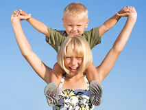 Happy Kids Outdoor Stock Photo