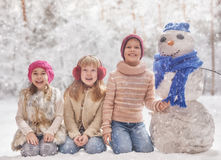 Happy kids outdoors Royalty Free Stock Photography
