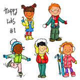 Happy Kids - part 1. Winter edition Stock Photography