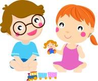 Happy kids playing, Stock Image