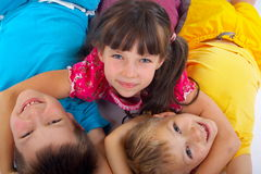 Happy kids playing Royalty Free Stock Photos
