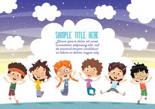Happy Kids Playing. Eps 10 stock illustration